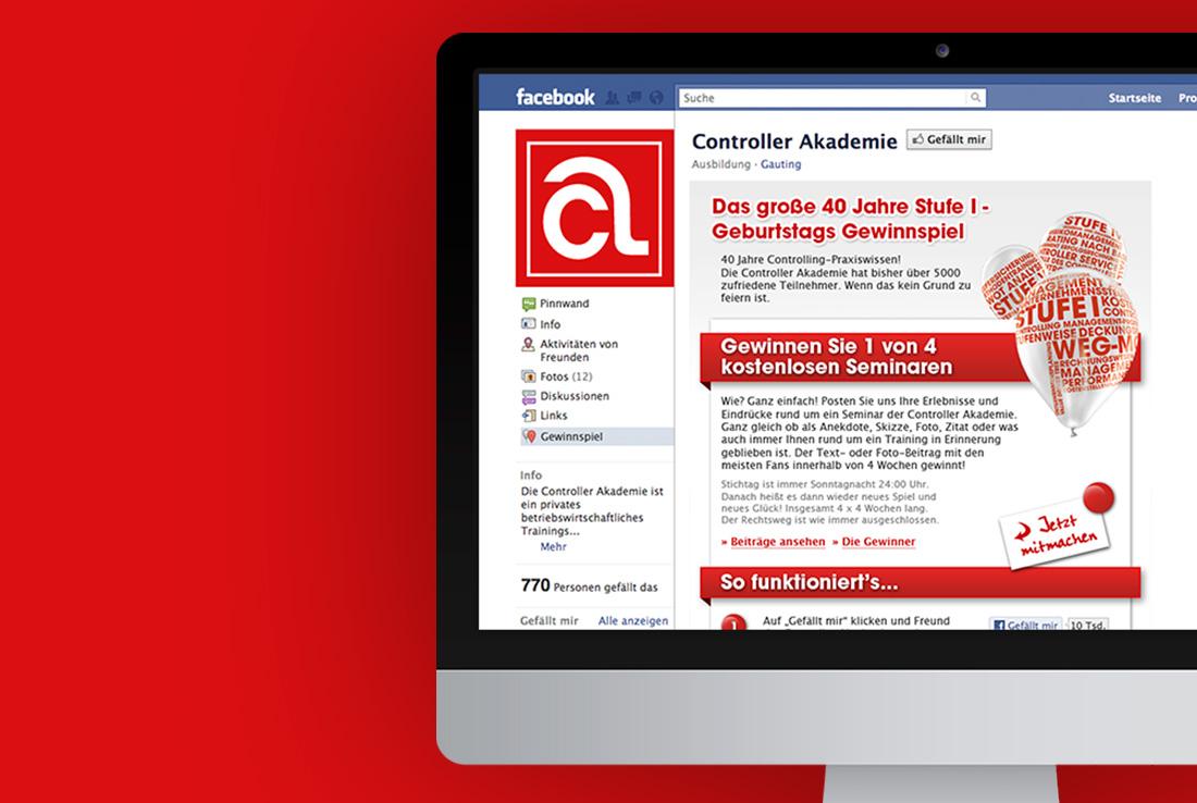 ca akademie, facebook visual gewinnspiel 40 jahre