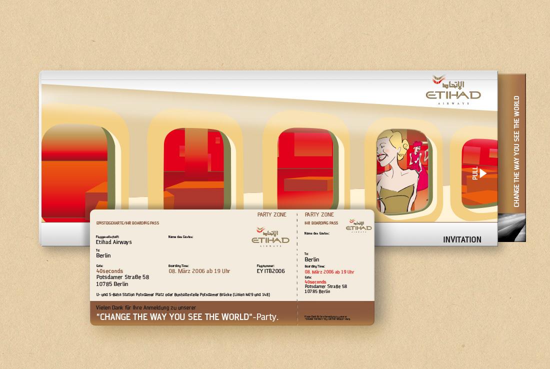ethiad flyer, Eintrittskarte