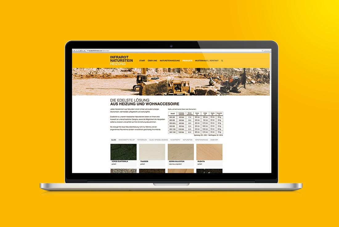 haustechnik reiser website unterseite produkte steinsorten