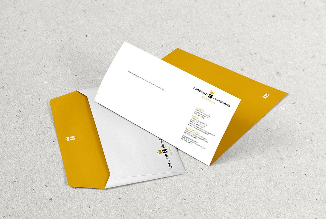 schreinerei-koenigsdorfer geschaeftsaustatttung, briefpapier