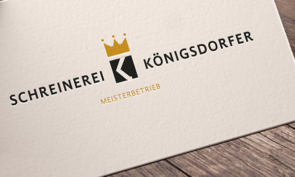 Schreinerei koenigsdorfer logo design