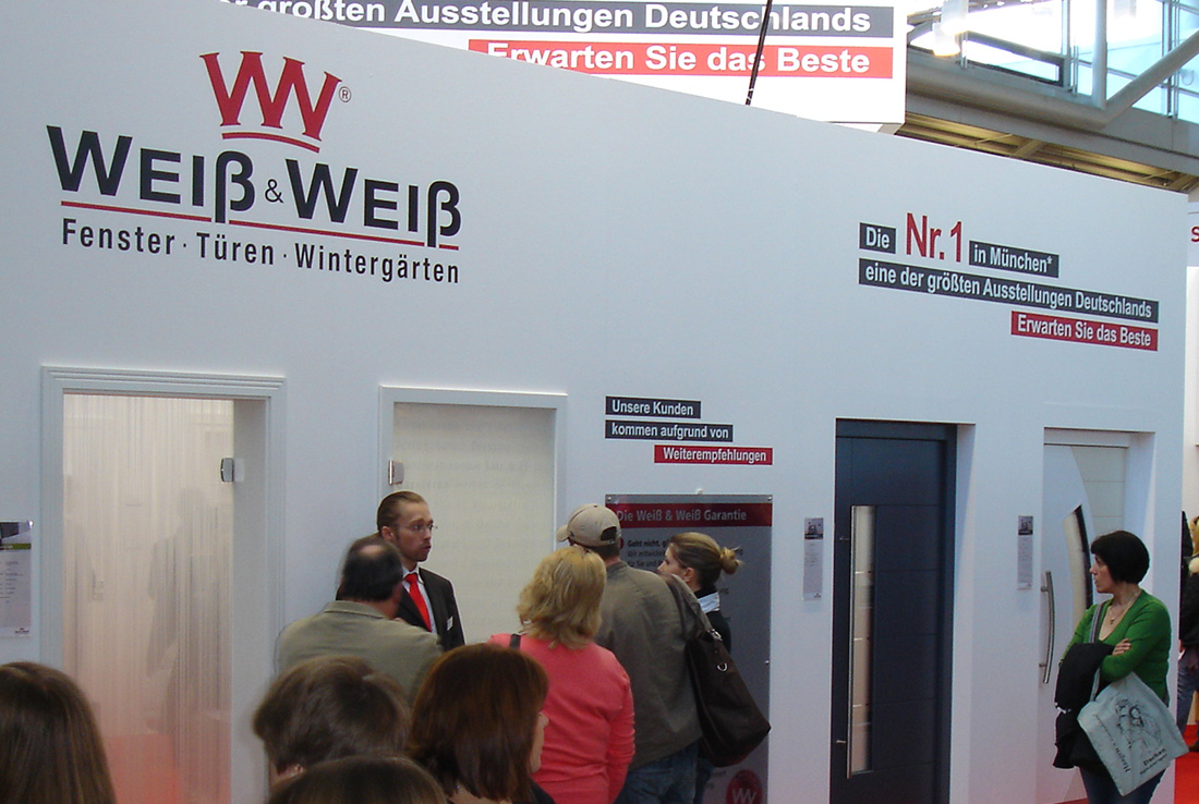 weiß und weiß, corporate design, messestand
