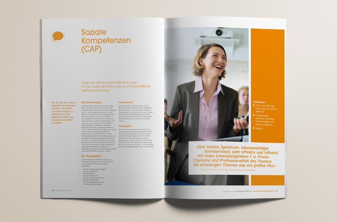 Seminarprogramm, Editorial Design