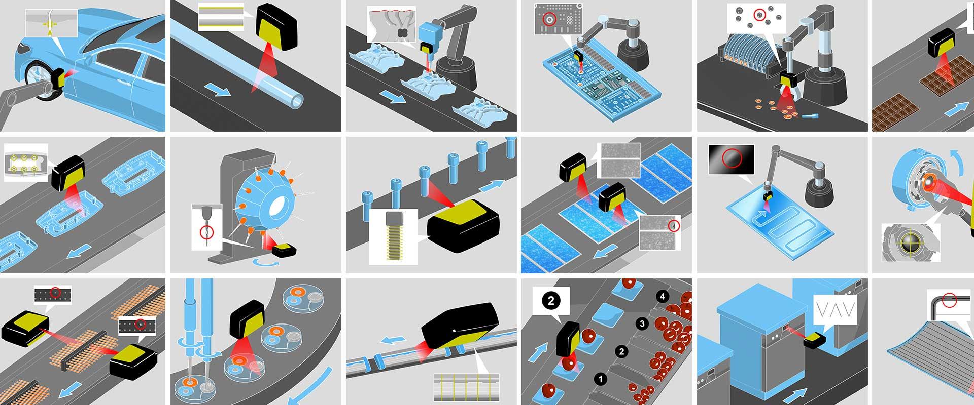 Illustration für technische Applikationen