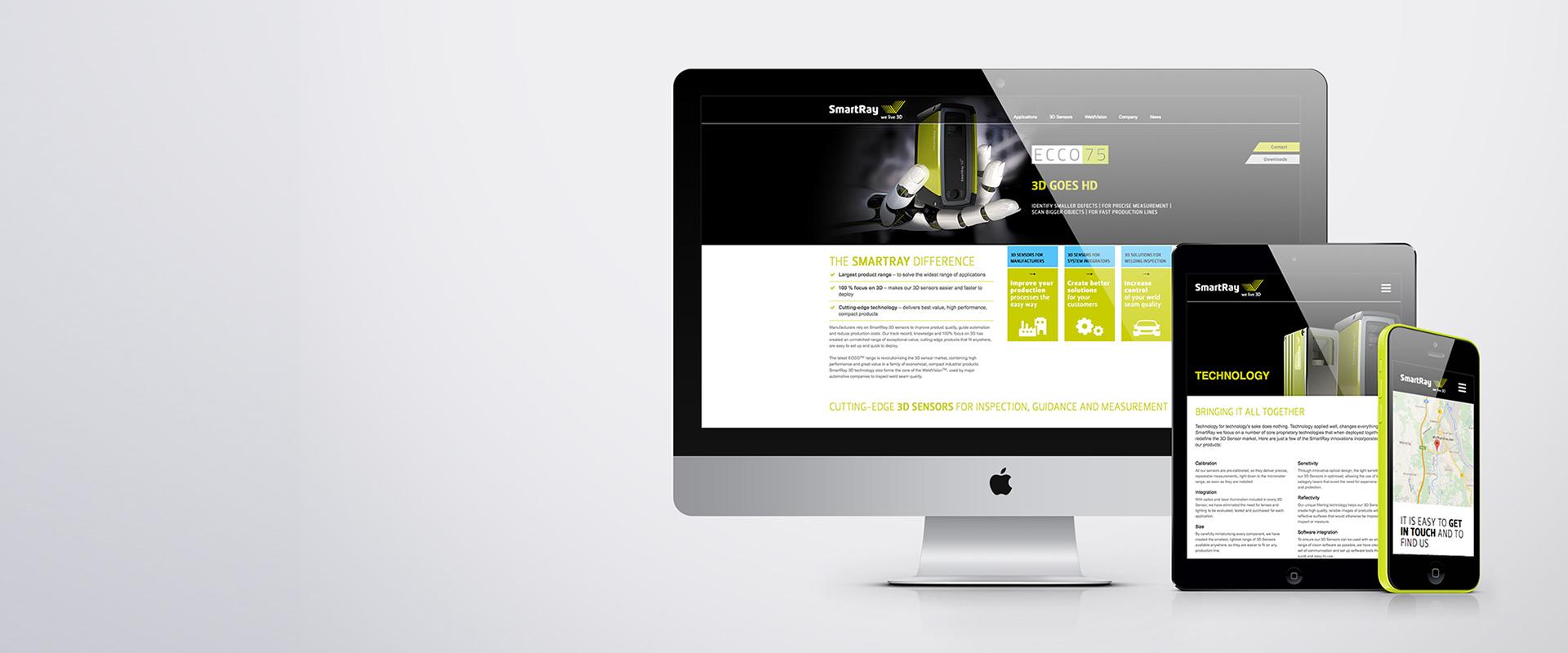 Webdesign für SpartRay GmbH
