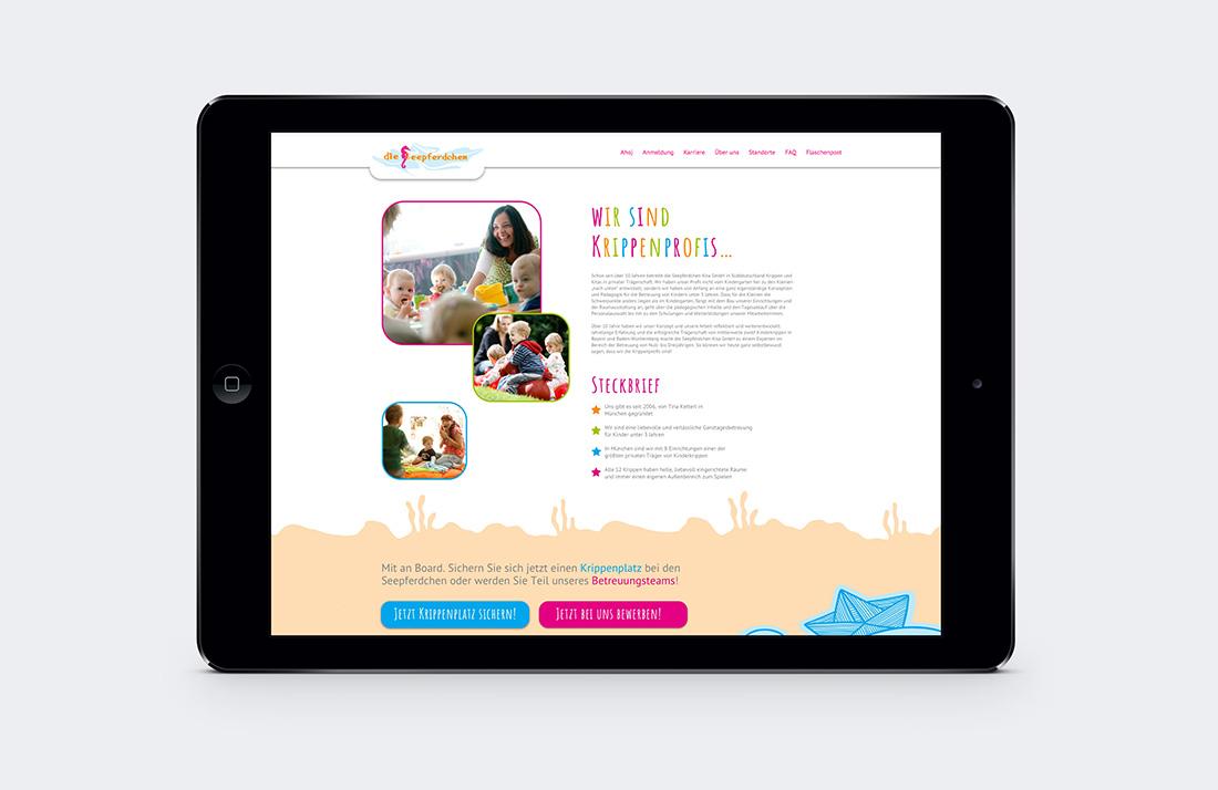 Webdesign für die Seepferdchen Kita